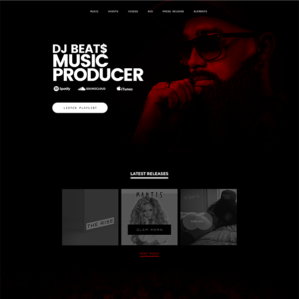 sonaar create music producer website
