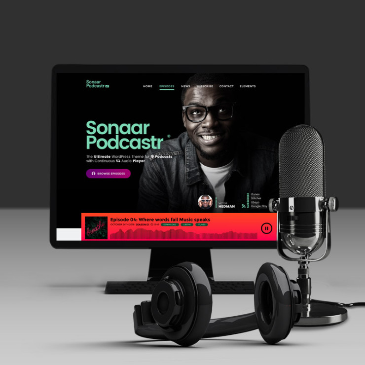 Sonaar has released one of the best Podcast WordPress themes