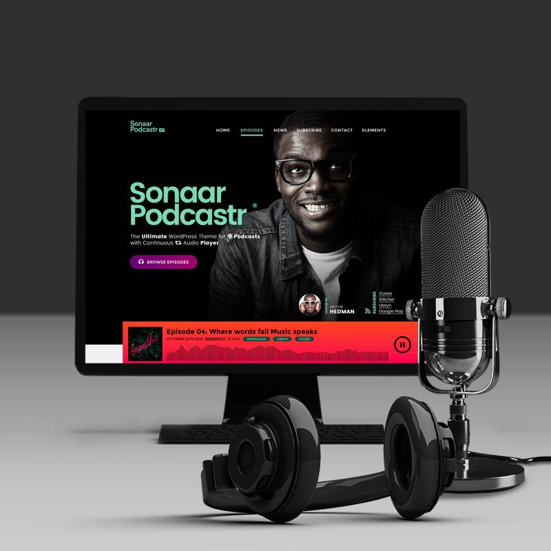 Podcast WordPress theme by Sonaar